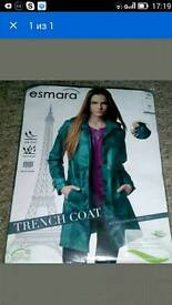 Esmara womens trench double breasted coat size 10