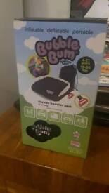 Bubble Bum booster seat, black, BNIB