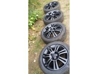 15 inch Vauxhall corsa alloys with nearly brand new tyres full tread hardly used