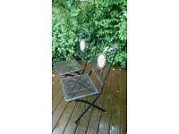 2 wrought iron garden chairs