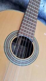 Valencia CG50 left-hand electro acoustic nylon strung guitar
