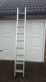 Abru aluminium double extending ladders