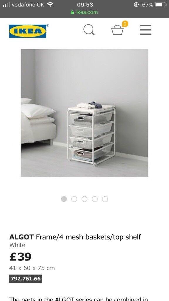 Ikea Algot 4 Drawer Storage Unit In Kensington London Gumtree