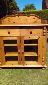 Solid , glazed Pine bathroom chest...........can double as baby changing unit.