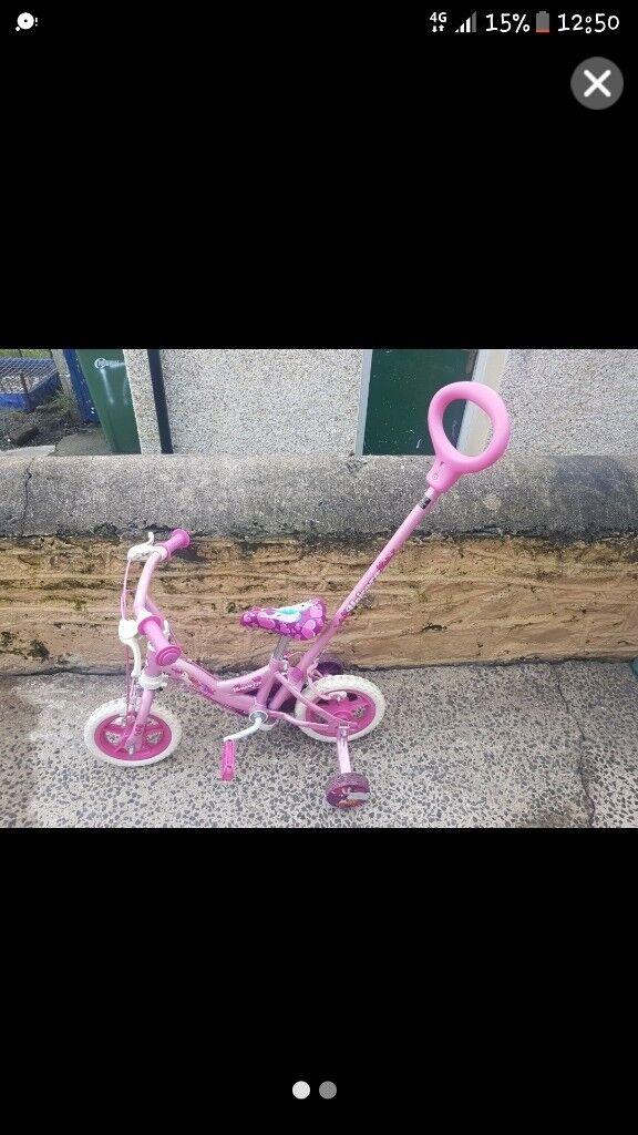 "Girls 10"" unicorn bike"