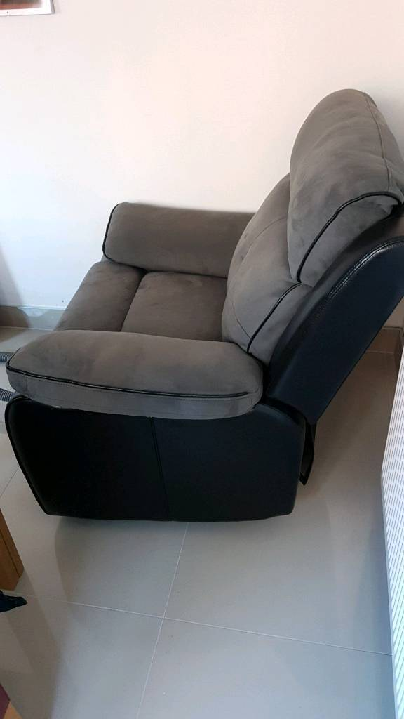 Grey Black Suede Chair