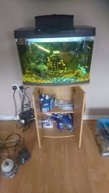 94 litre fish tank with stand