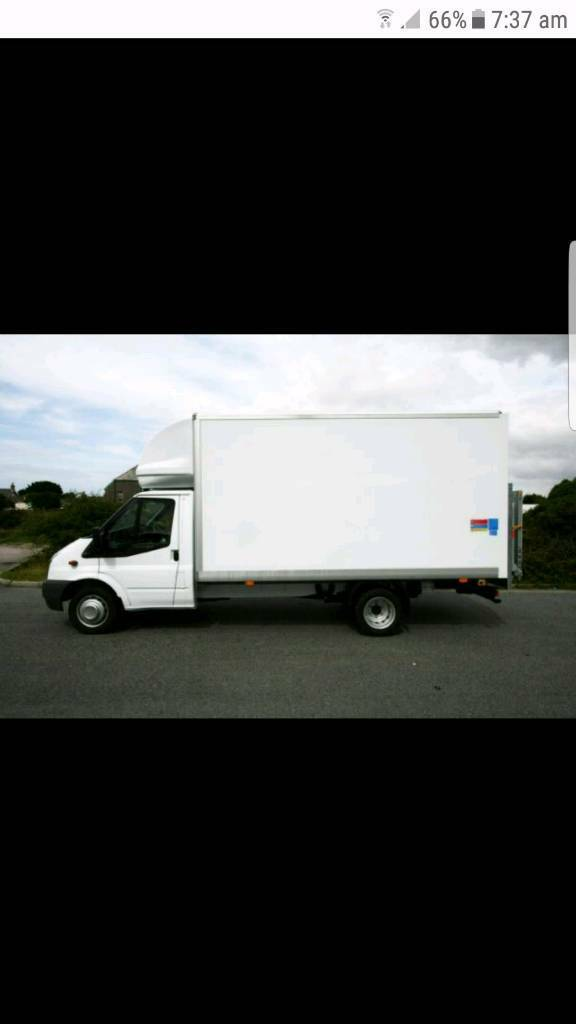 Ford luton van an man