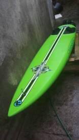 Fanatics windsurfing board and bag
