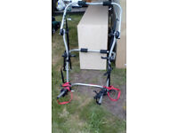 bike rack for 2 bikes for saloon cars used for 2 hours