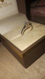 18ct white gold 0.5ct single diamond rind