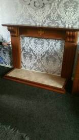 Fire place and marble bottom