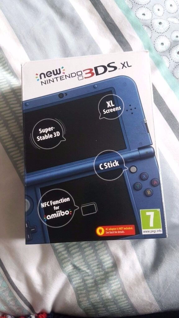 Nintendo 3DS XL Metallic blue + 4 games