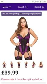 Love honey purple treasure me basque