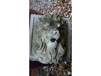 Stone Ball Pillar Cap & Stone Lion Head