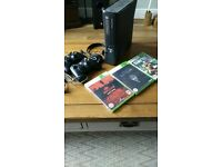 Xbox 360 slim 250gb - two controllers, headset and 3 games