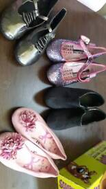BUNDLE OF SIZE 1 SHOES, ANKLE BOOTS, GLITTER.PARTY.NEW