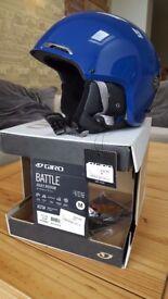 Giro Battle Snowboarding Helmet, Blue, size Medium