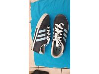 Adidas Adult Size 7 shoes (white and Blue)