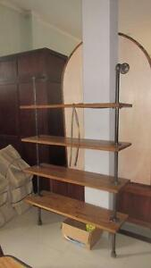 Bibiothèque Étagère Bois Acier Style Industriel // Bookcase Shelf Wood Steel Industriual *NEW from Indonesia
