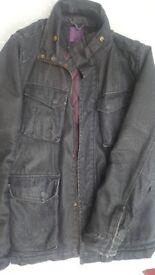 Ted Baker heavy denim jacket,black,medium