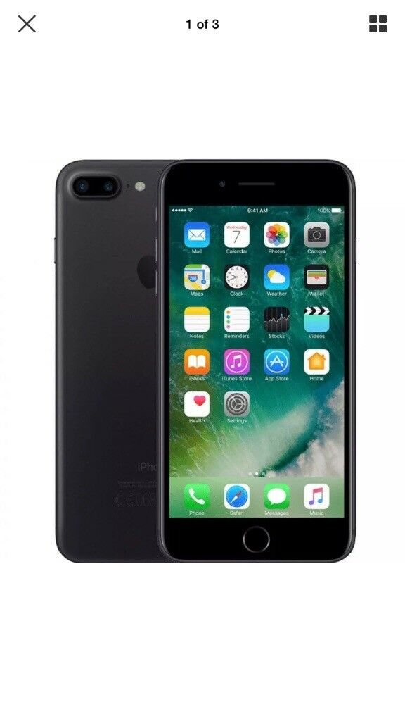 iPhone 7 32gb on O2 - immaculate screen, scuffs on the edges and back