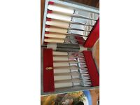 Sheffield Chromens fish knives and forks