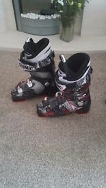 Mens atomic ski boots and bonfire jacket