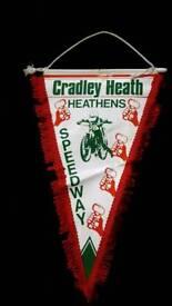 CRADLEY HEATH SPEEDWAY 1980s PENNANT