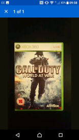 COD World At War With Box & Instructions Xbox 360 Game