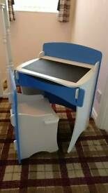 Kidsaw childs kids desk and chair blue