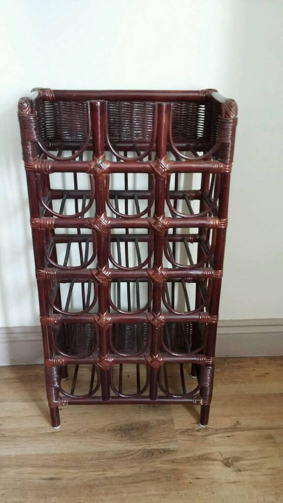 Tall Retro Cane Wine Rack