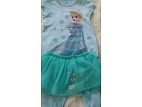 M&S Disney Frozen Elsa Pyjamas with tutu skirt for girl 9-10 years. 100% cotton. Hardly used.