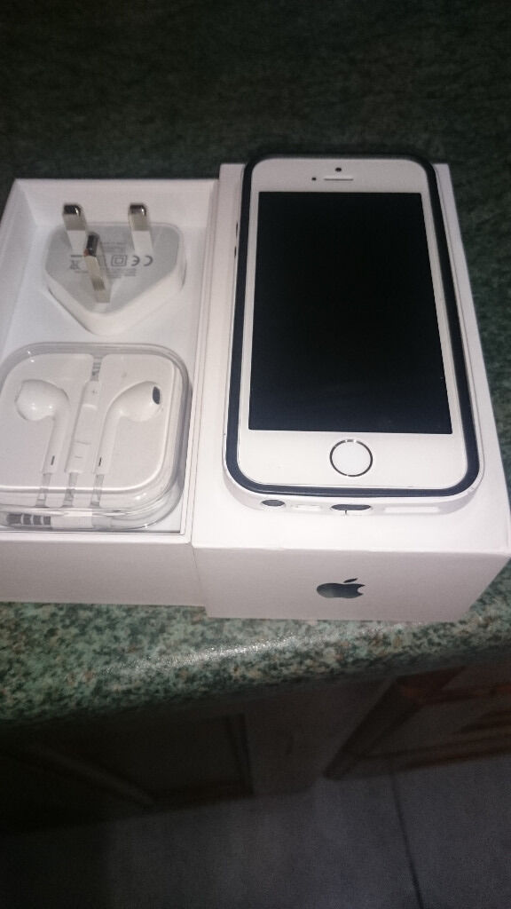 iphone 5s white 16 GB O2 Network exellent conditionin Craigavon, County ArmaghGumtree - iPhone 5s White 16Gb o2 Network Reasons for sale was due to upgrade Perfect working order no scratches no marks screen perfect condition due to screen protector Comes in original box with charger and ear phones perfect condition thanks
