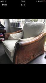 Multiyork designer sofa x 2 chairs heavy oak