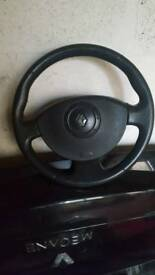 2005 Renault magane steering wheel and boot