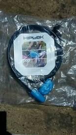 Hiplok cable cycle lock - new unused.