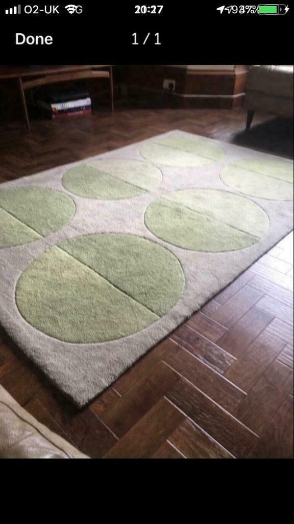 Large pale green rug | in Forfar, Angus