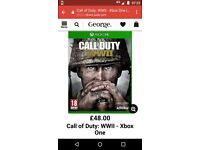 CALL OF DUTY WW11 XBOX ONE GAME BRAND NEW
