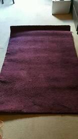 Deep purple rug