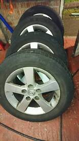 """Set of 15"""" alloy wheels from Mazda 114.3x5"""