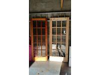 2 internal pine doors for sale