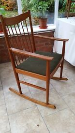 !960s period Danish traditionl rocking chair