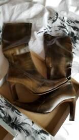 Faith suede boots size 5