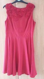Size 14, Coast A-Line Red Dress
