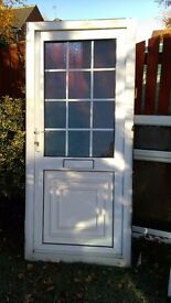 used white upvc door 920 x 2040 hinged on right from outside view