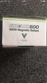 9 X Eurolux 600watt balast