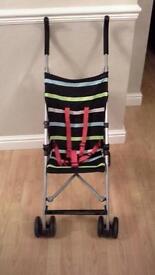 John lewis striped multicoloured stroller