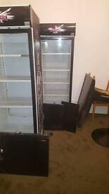 Single Glass Door Upright Refrigerator