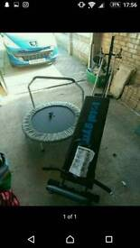 Total gym and trampoline